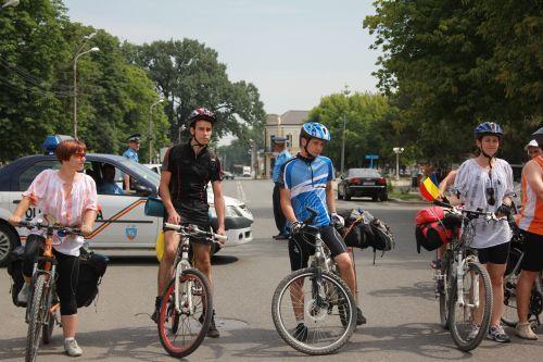Echipa Cycling Romania la punctul de start din Calarasi