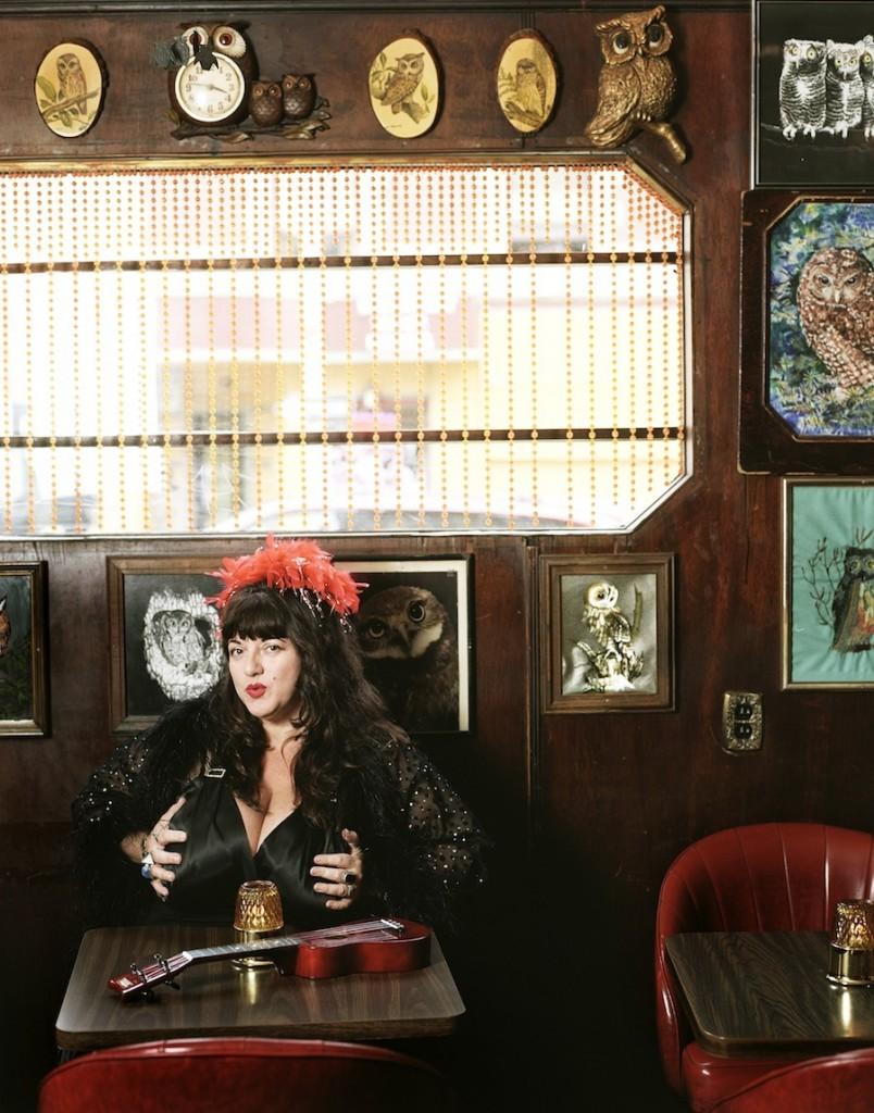 Blues singer Candye Kane.