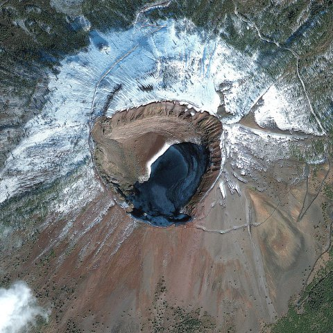Satellite Image of Mount Vesuvius, Naples, Italy
