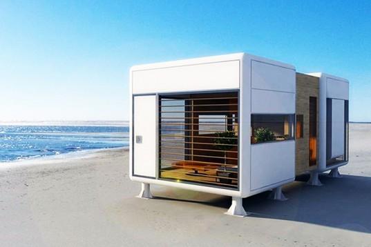 o cas mic stilat gndit pentru a se potrivi oriunde n form de cub i realizat din materiale prietenoase cu mediul are un interior luminos i este - Casa Cub Moderne
