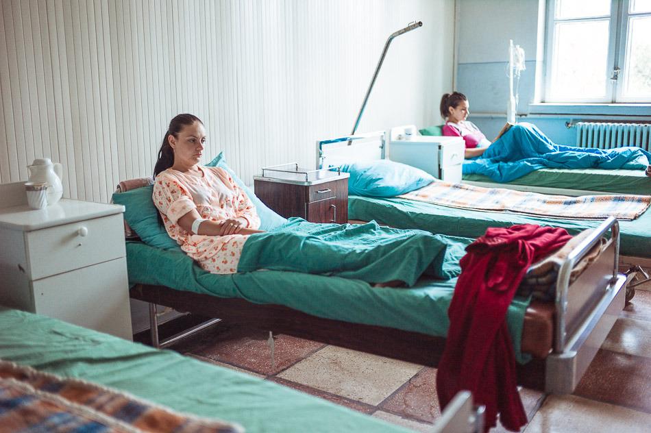 Cristina, pacienta din Spitalul Corabia