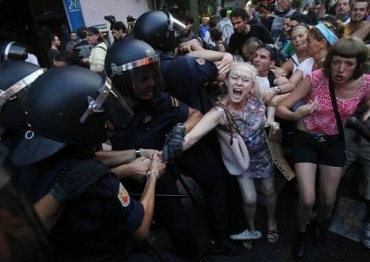 protest spania