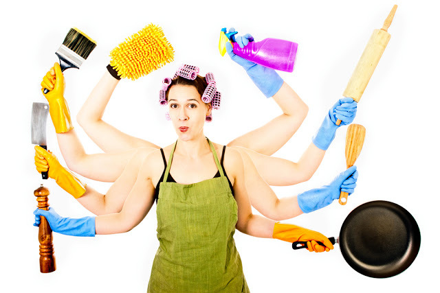 many arms of housework