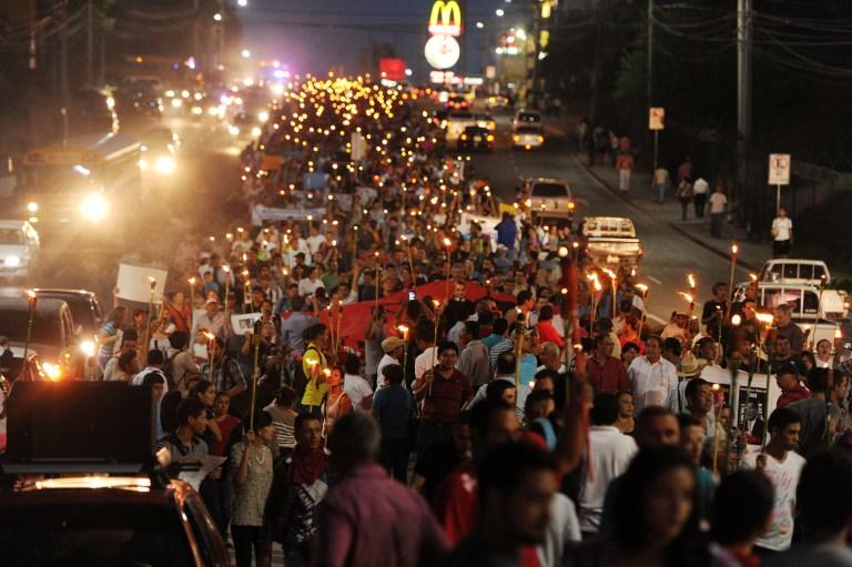 HONDURAS-HERNANDEZ-PROTEST
