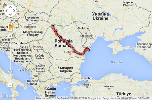 Traseul lui Tur, până în prezent. Sursa: Ciconia.ro