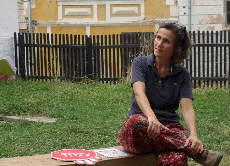 Stephanie Roth la Roșia Montană. Foto: Radu Cernuta