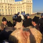 Peste 3.000 de ciobani protestează în Bucureşti. Jandarmii au intervenit ..