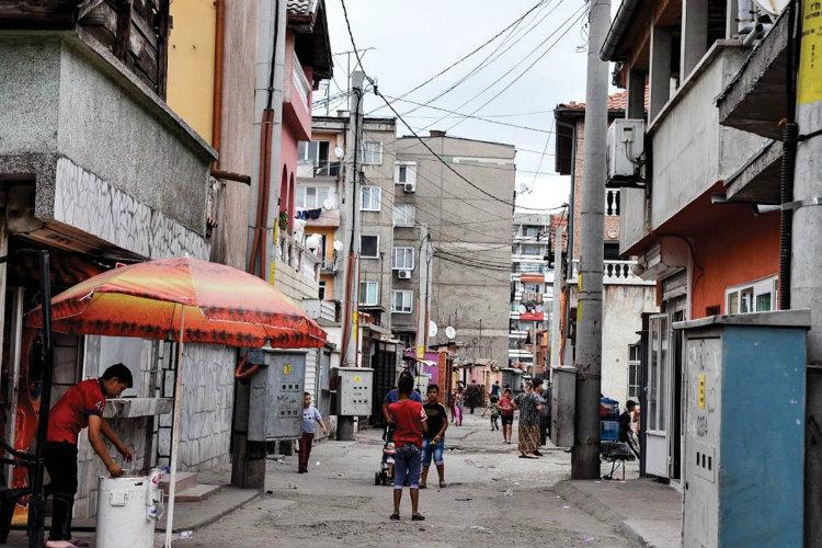 Stolipinovo, cel mai mare cartier de romi din orașul Plovdiv. Foto: Zornitsa Stoilova
