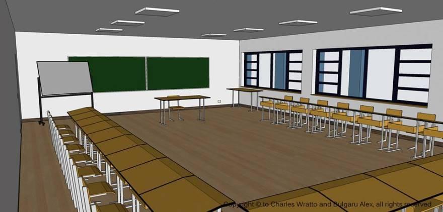 Cum va arăta o sală de clasă din liceul construit de Fundaţia Charles Wratto