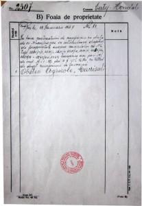 Copie după Cartea Funciară unde se atestă cumpărarea terenurilor și transferul dreptului de proprietate către Obștea Agricolă Măcrișul