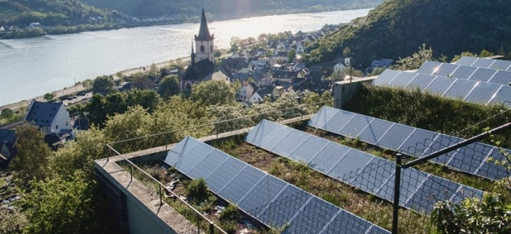 Solar Panels in small German town