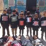 Copiii din Siria protestează față de tăcerea internațională după atacul ..